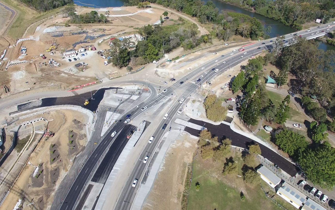 2019 08 15 Gympie Rd Intersection Aerial