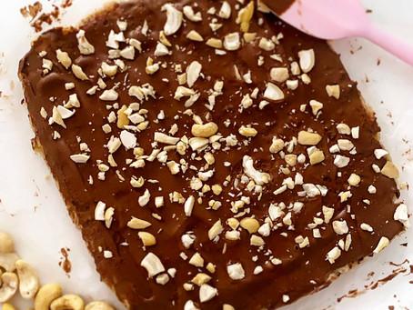 Choc Peanut Butter Oat Slice Recipe