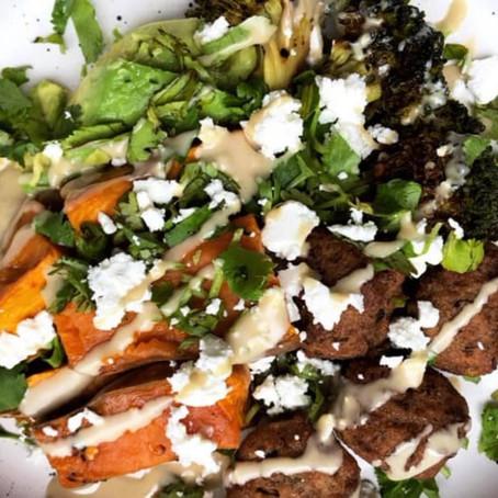 Vegetarian macro bowl