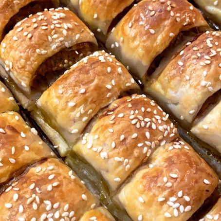 Turkey & Veggie 'Sausage' Rolls