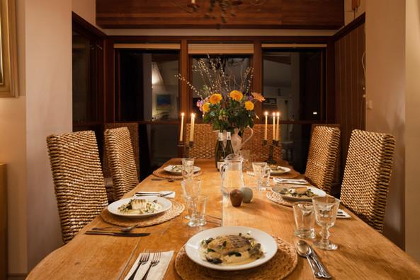 Candlelit dining