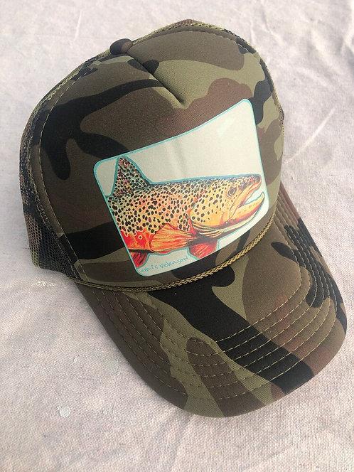Henry's Fork Brown Camo Foam/Mesh Trucker Hat