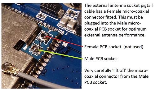 Inrico TM-7 extenal antenna connection
