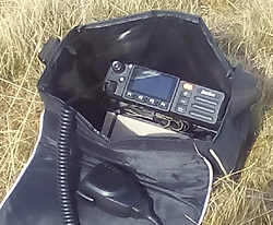 Inrico TM-7 network radio portable field pack.
