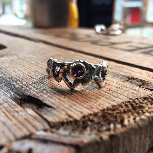Molten Heart Set with Amethyst