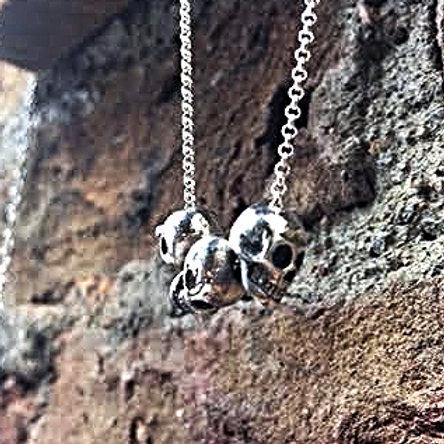 Trio Skull Necklace