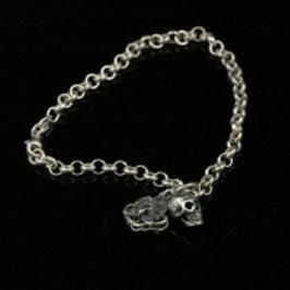 Skulpt Skull and Orchid Charm Bracelet