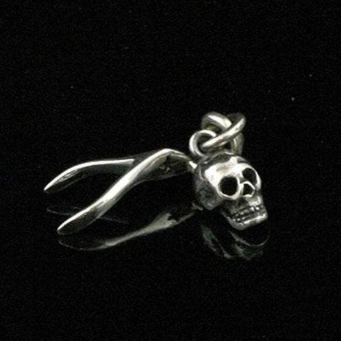 Skulpt Skull & Wishbone Pendant