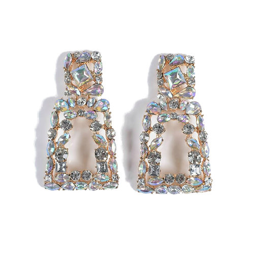 Crystal statement drop earrings