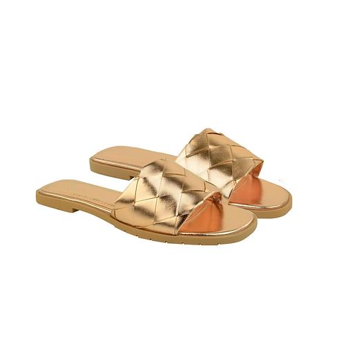 Woven slip on sandals