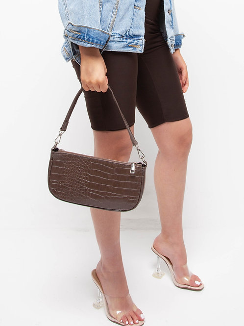 Animal pattern baguette bag