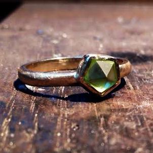 Fancy Cut Peridot Ring