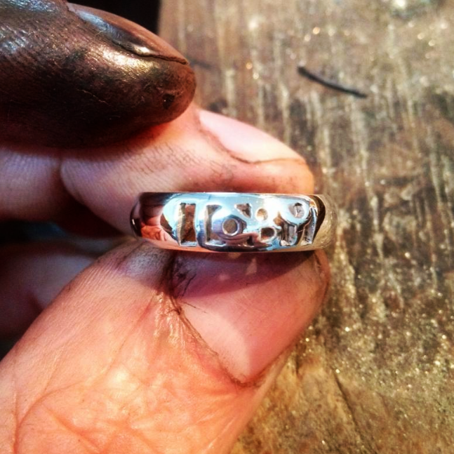 Personalised 'Toby' Ring