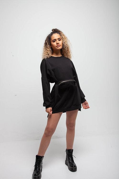 Bum bag sweater dress