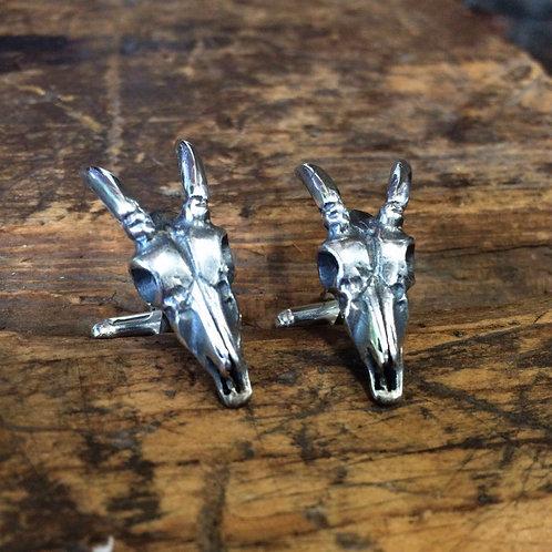 Deer Skull Cufflinks