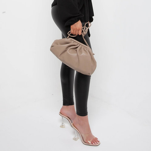 Oversized pleated clutch bag