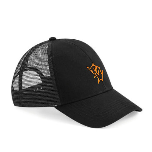 Skulls And Orchids Embroidered Trucker Cap