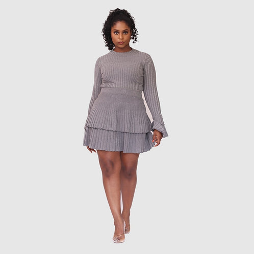 Double layer skirt co ord