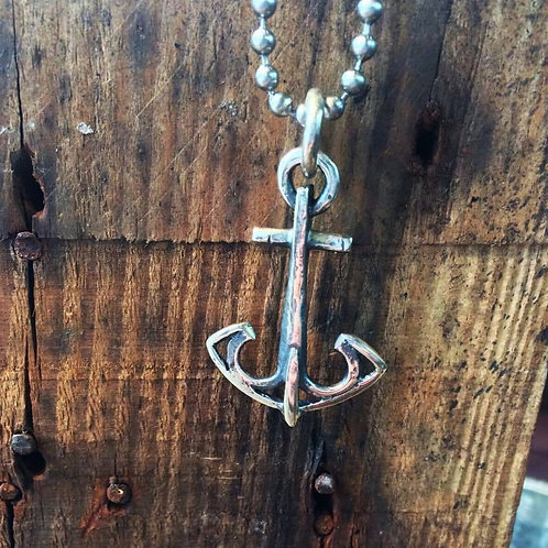 Anchor Pendant on Bead Chain