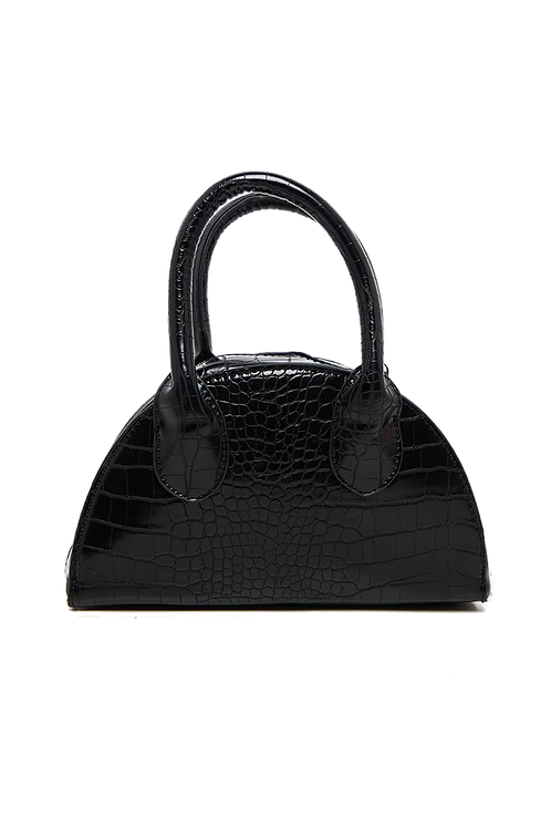 Croc pattern half moon mini bag