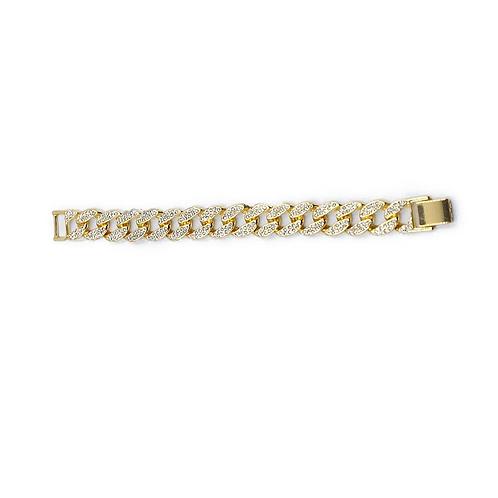 Chunky chain rhinestone bracelet