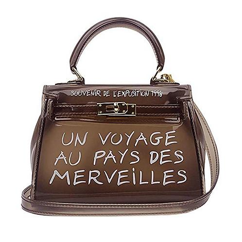 Mini voyage slogan perspex bag
