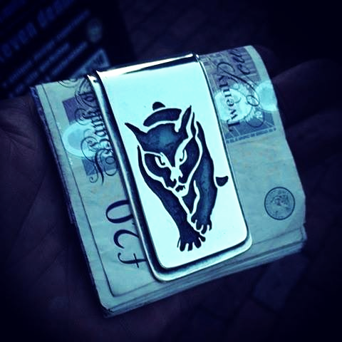 Black Cat money clip