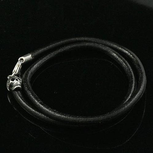 Ladies Sugar Skull Leather Bracelet