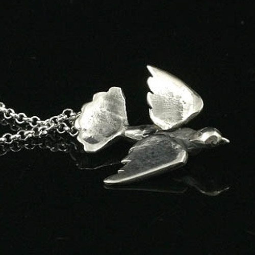 diamond turtle and necklace dove steff charm bloomsbury silver jewellery pendant product