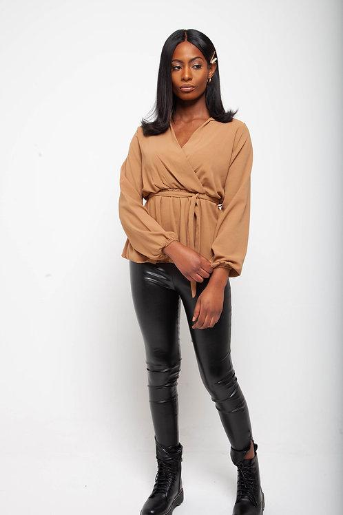 Wrap detail blouse