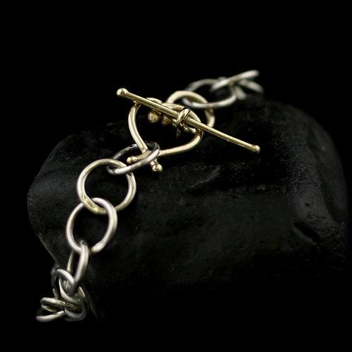 Impression Silver and Gold Bracelet