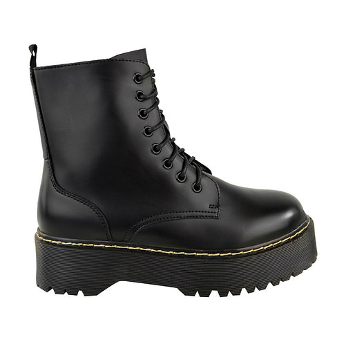 Matte chunky lace up boots