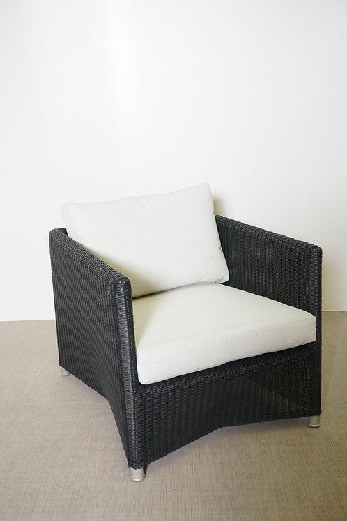 Fotel Cane-line Daimond Langue chair grey 8502TXSG