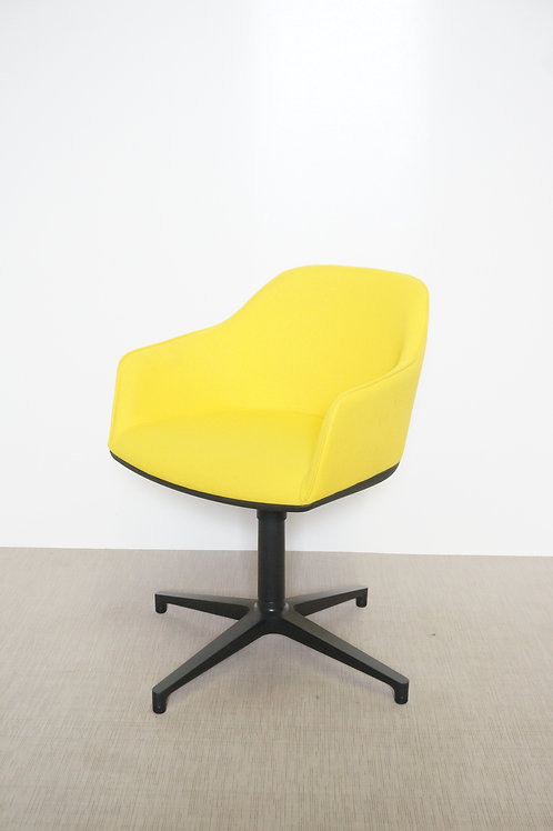 Fotel Vitra Softshell yellow four star base