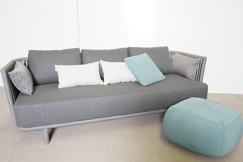 Sofa Cane-linea, Sofa Cane-linea, Moments 3 seater sofa Grey, cane line rope 754