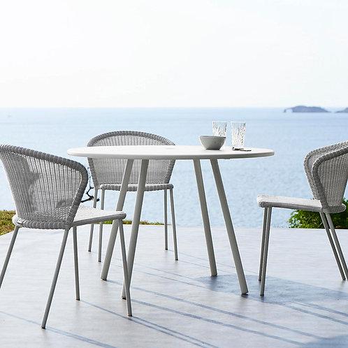 Krzesło Cane-line , Lean chair w/o Armrest white 5410LW