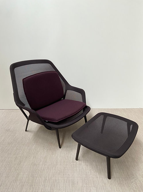 Fotel Vitra Slow Chair with Ottoman