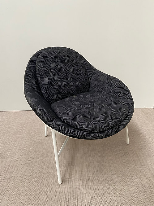 Fotel Comforty Oyster White base Grey seat