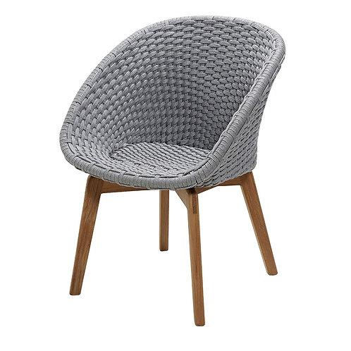 Krzesło Cane-line , Peacoc chair, 5454BCAB, z poduszką