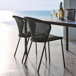 Krzesło Cane-line ,Lean  chair w/o Amrest black 5410LS