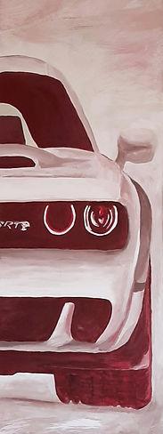 SRT Dodge Challenger White Taylor Art Garage Painting