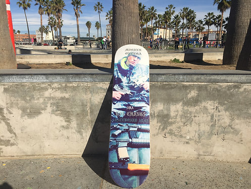 MIGUEL ORTEGA/BIG CHING$ UZI GANGSTER Skateboard Army Pro Model Deck