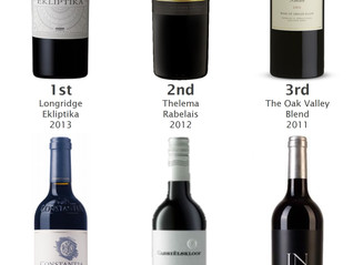 Results - Top6 Bordeaux Style Blends tasting on 26th November