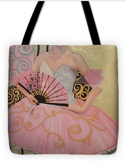 """Dancer with Fan Tote 18"""" x 18"""""""