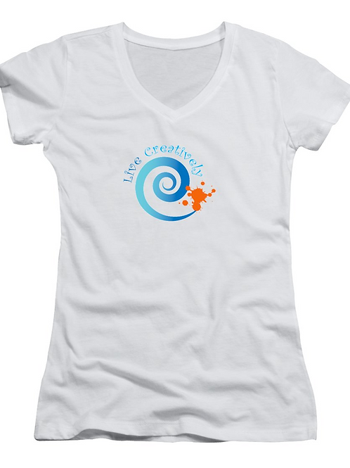 Live Creatively Women's V-neck T-Shirt