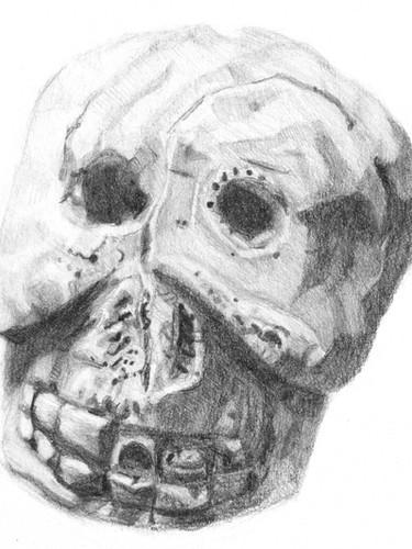 Ceramic Skull from Pompeii