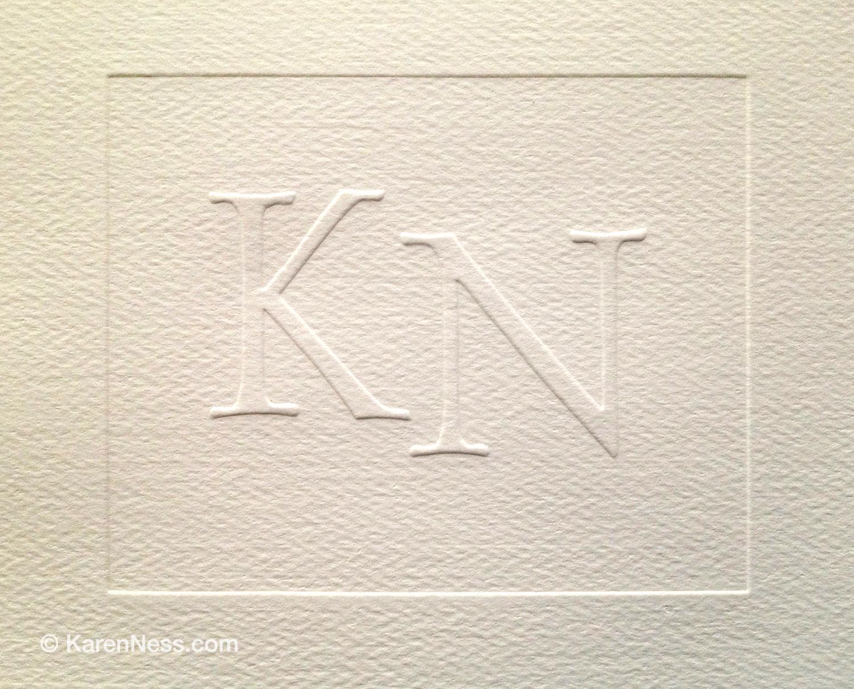 KN Emboss by Karen Ness