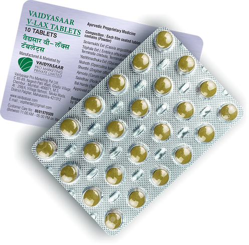 Vaidyasaar V-Lax Tablets Strip