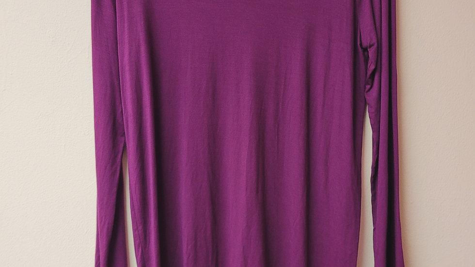 Long sleeve purple v-neck top