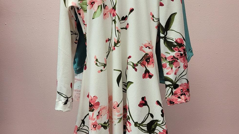 White Floral Twirl Dress Size 6